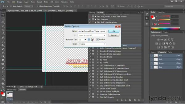 Using the Video Actions set: Photoshop for Video Editors: Core Skills