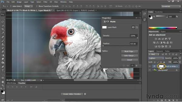 Using the Spot Color effect: Photoshop for Video Editors: Core Skills