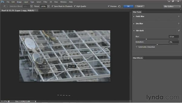 Creating a depth matte with the Blur Gallery: Photoshop for Video Editors: Core Skills
