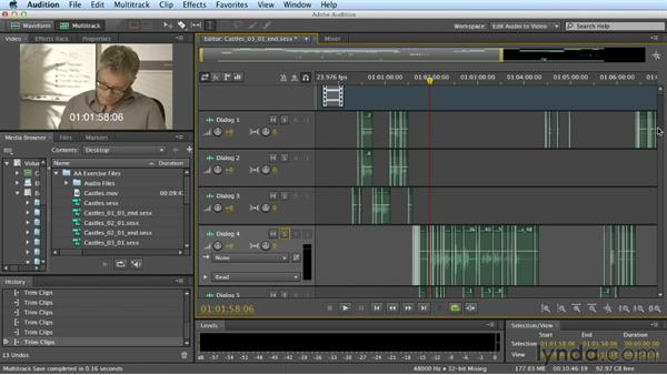 Welcome: Mixing a Short Film with Audition