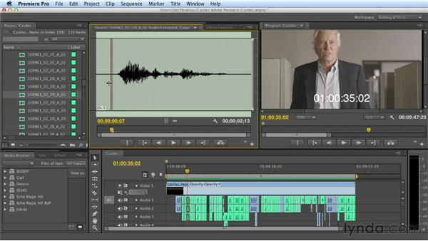 Exporting audio and video from Premiere Pro: Mixing a Short Film with Audition