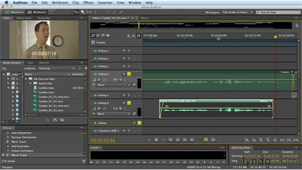 Editing dialogue: Part two: Mixing a Short Film with Audition