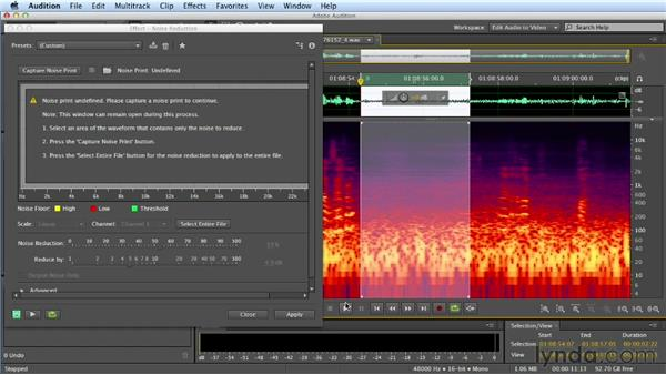 Fixing broadband noise problems: Mixing a Short Film with Audition