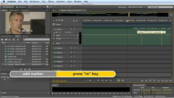 Synchronizing SFX: Mixing a Short Film with Audition