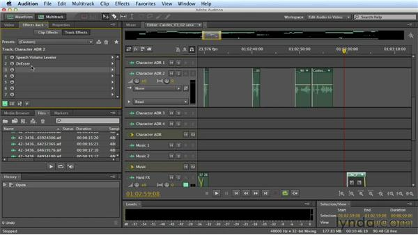 Printing FX: Mixing a Short Film with Audition