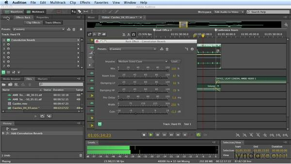 Automating plugins: Mixing a Short Film with Audition