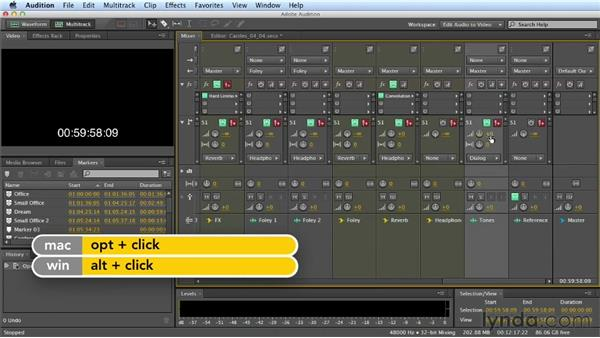 Printing final stems: Mixing a Short Film with Audition