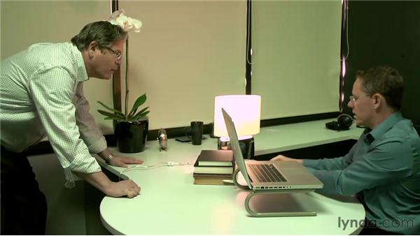 Creating a basic lighting setup in a home or office: On Camera: Video Lighting for the Web