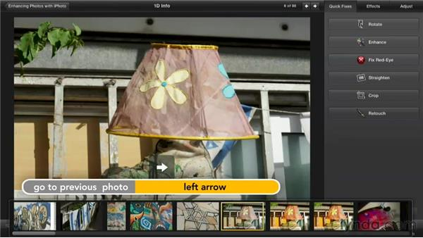 Switching images: Enhancing Photos with iPhoto
