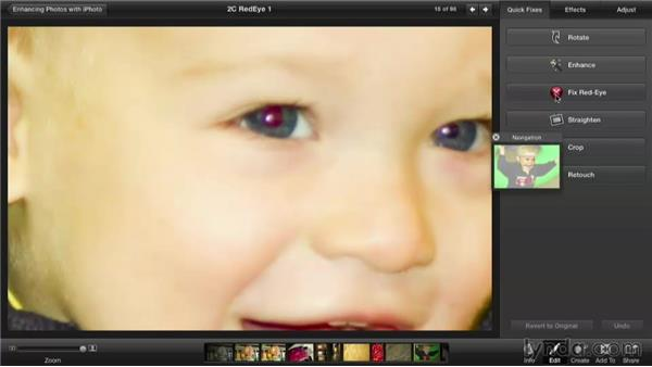 Removing red-eye: Enhancing Photos with iPhoto