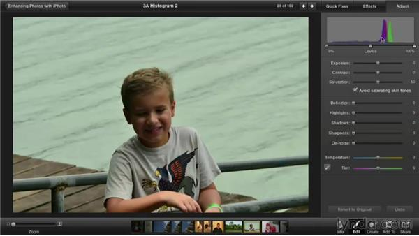 Understanding the histogram: Enhancing Photos with iPhoto