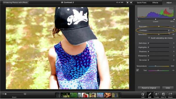Improving contrast: Enhancing Photos with iPhoto