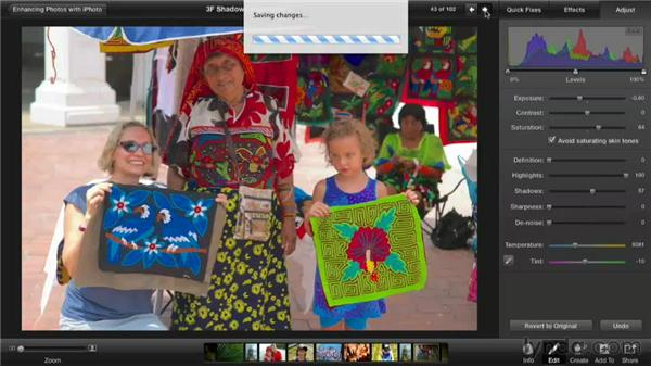 Adjusting shadows and highlights: Enhancing Photos with iPhoto