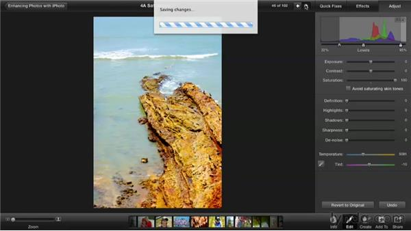 Improve a washed-out photo with saturation: Enhancing Photos with iPhoto