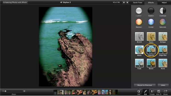Stylizing an image with effects: Enhancing Photos with iPhoto