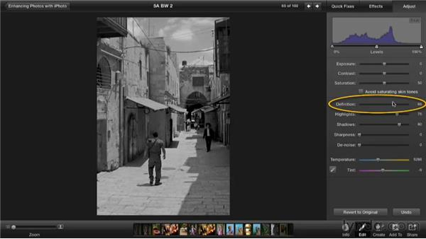 Converting to black and white: Enhancing Photos with iPhoto