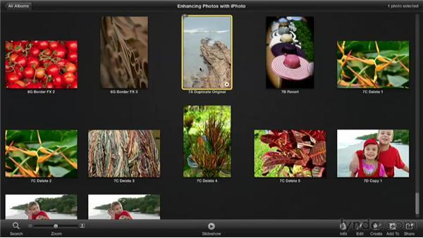 Duplicating an image: Enhancing Photos with iPhoto
