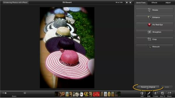 Reverting to an original: Enhancing Photos with iPhoto