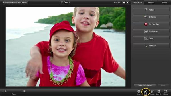 Copying and pasting adjustments: Enhancing Photos with iPhoto