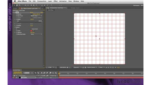 Building the grid floor: After Effects Apprentice 15: Creating a Sports Opening Title