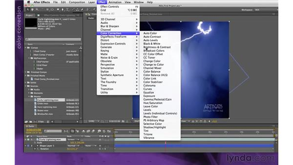Adding lightning: After Effects Apprentice 15: Creating a Sports Opening Title