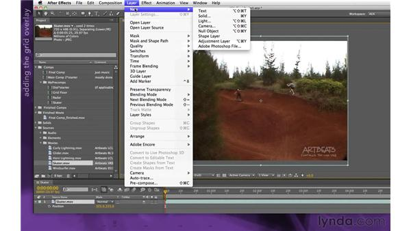 Building the video panel: After Effects Apprentice 15: Creating a Sports Opening Title