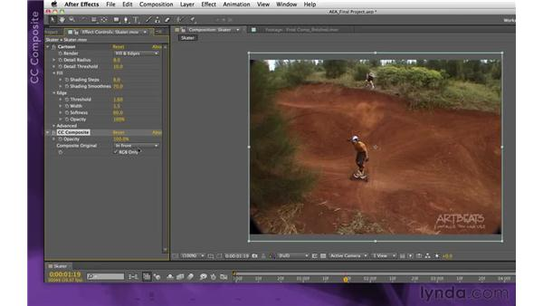 Stylizing the footage: After Effects Apprentice 15: Creating a Sports Opening Title