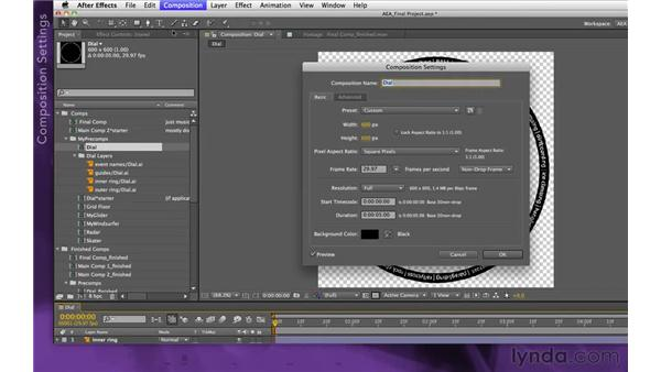 Importing Illustrator files: After Effects Apprentice 15: Creating a Sports Opening Title