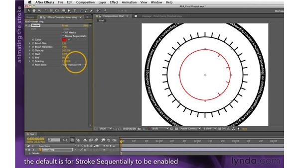 Animating the Stroke effect: After Effects Apprentice 15: Creating a Sports Opening Title