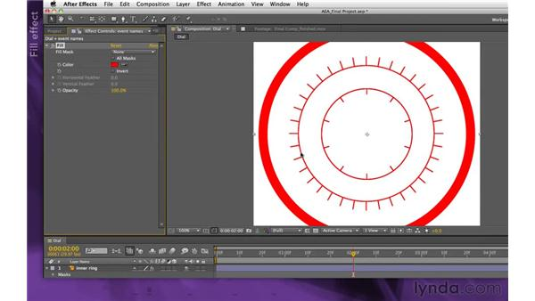 Tinting the event names: After Effects Apprentice 15: Creating a Sports Opening Title