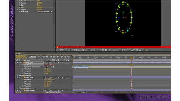 Wiggling the rings: After Effects Apprentice 15: Creating a Sports Opening Title