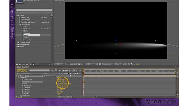 Building the floor: After Effects Apprentice 15: Creating a Sports Opening Title
