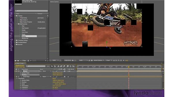 Adding a video panel: After Effects Apprentice 15: Creating a Sports Opening Title