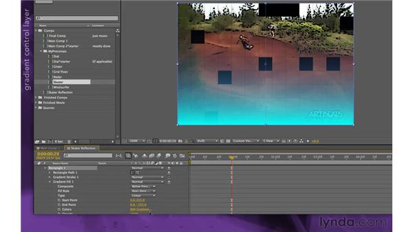 Creating a reflection: After Effects Apprentice 15: Creating a Sports Opening Title