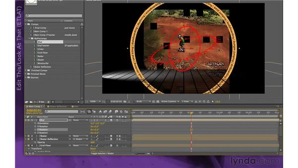 Adding the dial: After Effects Apprentice 15: Creating a Sports Opening Title