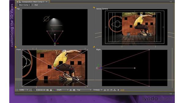 Setting up the final pose: After Effects Apprentice 15: Creating a Sports Opening Title