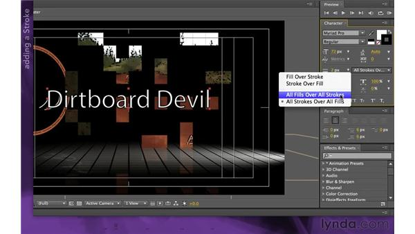 Adding a text layer: After Effects Apprentice 15: Creating a Sports Opening Title