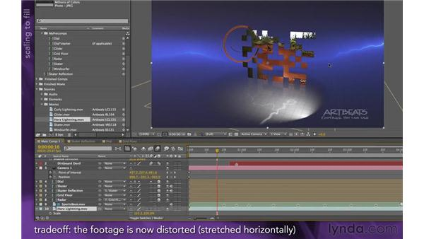 Adding a 2D background: After Effects Apprentice 15: Creating a Sports Opening Title