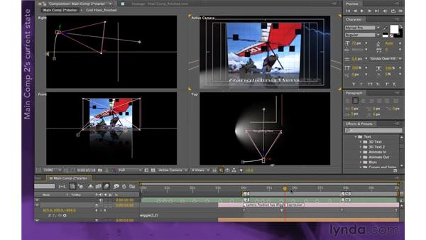 Overview of Main Comp 2: After Effects Apprentice 15: Creating a Sports Opening Title