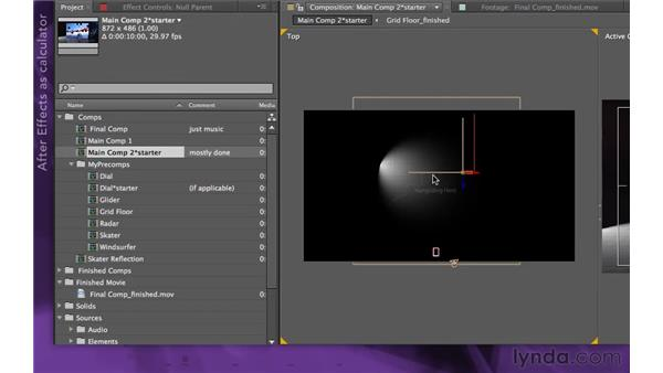 Grouping layers: After Effects Apprentice 15: Creating a Sports Opening Title
