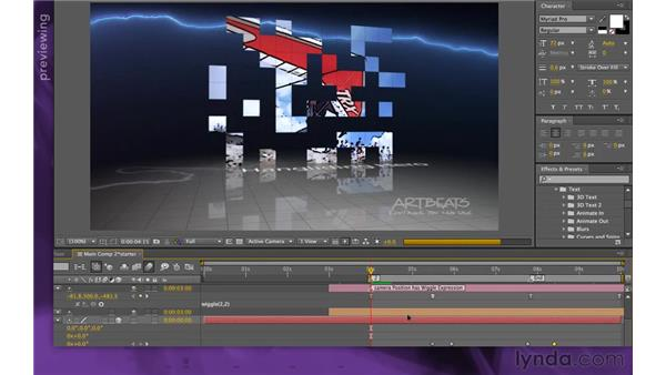 Animating the swivel: After Effects Apprentice 15: Creating a Sports Opening Title