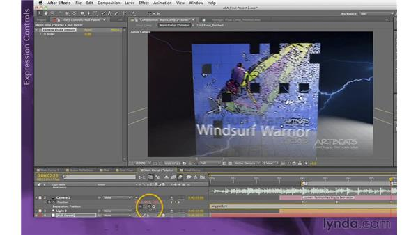 Keyframing the camera: After Effects Apprentice 15: Creating a Sports Opening Title