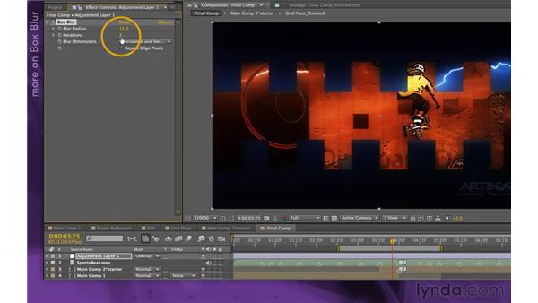 Adding a filmic glow: After Effects Apprentice 15: Creating a Sports Opening Title