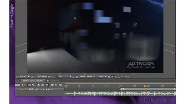 Increasing the motion blur: After Effects Apprentice 15: Creating a Sports Opening Title
