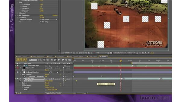 Retiming a video source: After Effects Apprentice 15: Creating a Sports Opening Title