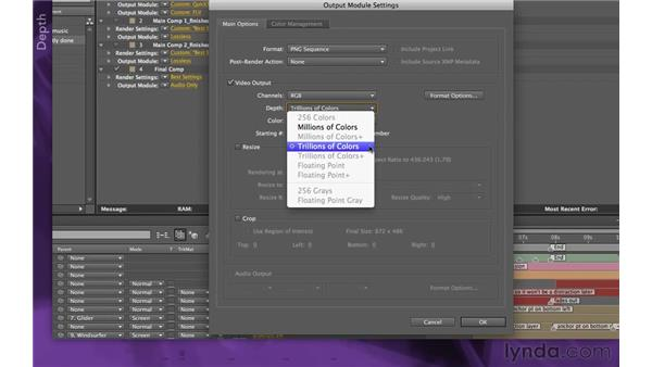 Outputting for archiving: After Effects Apprentice 15: Creating a Sports Opening Title