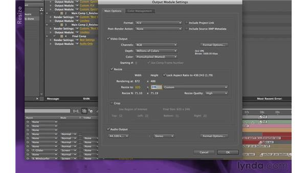 Outputting for web: After Effects Apprentice 15: Creating a Sports Opening Title