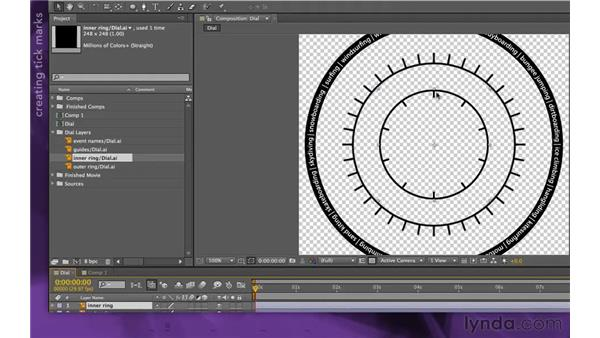 Creating the inner ring: After Effects Apprentice 15: Creating a Sports Opening Title