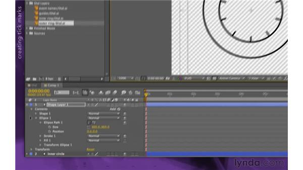 Creating the outer ring: After Effects Apprentice 15: Creating a Sports Opening Title