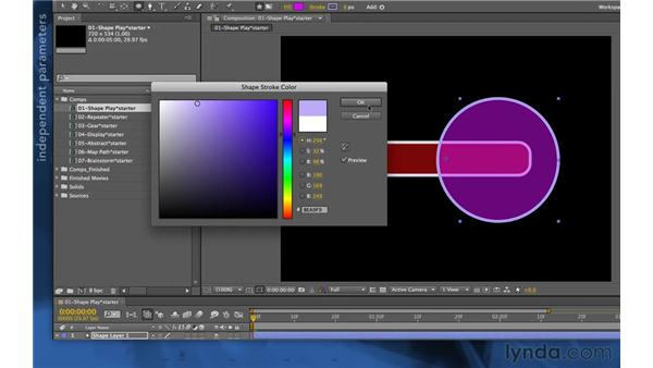 Creating multiple shape groups: After Effects Apprentice 14: Shape Layers